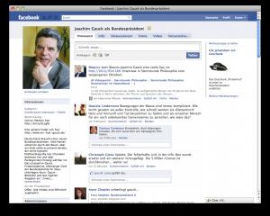 Facebook-Gruppe: Joachim Gauck als Bundespräsident
