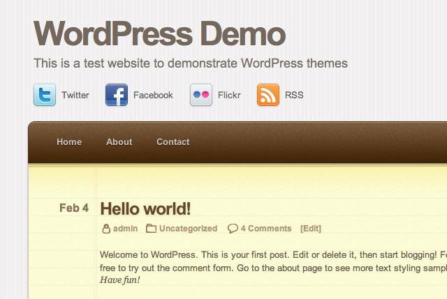 Screenshot: Notepad-Theme