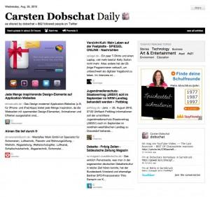 Screenshot: paper.li