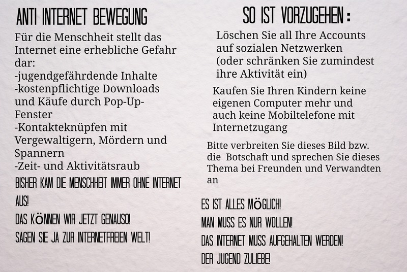 Anti Internet Bewegung