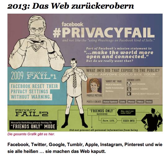 Vorsatz für 2013: Das Web zurückerobern