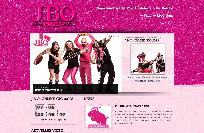 Gerade noch in diesem Jahr: Neue J.B.O. Website