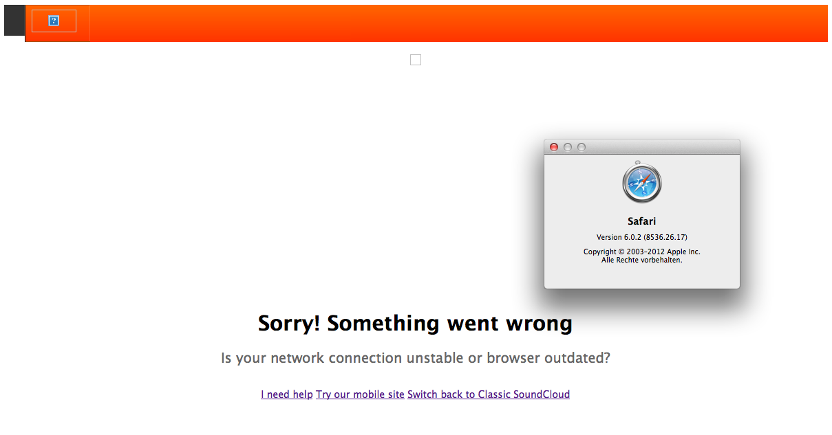 Soundcloud: Something went wrong