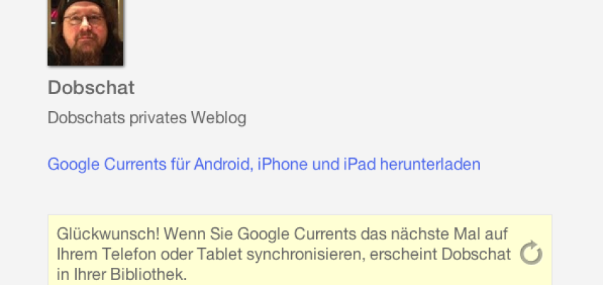 Dobschat bei Google Currents
