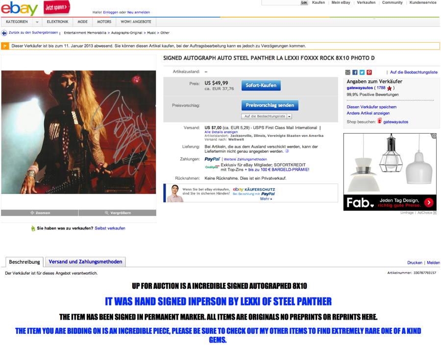 eBay: Wie ich euren Kundenservice finde? Beschissen!