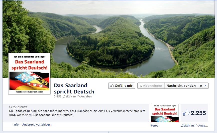 Das Saarland spricht Deutsch? Seit wann?