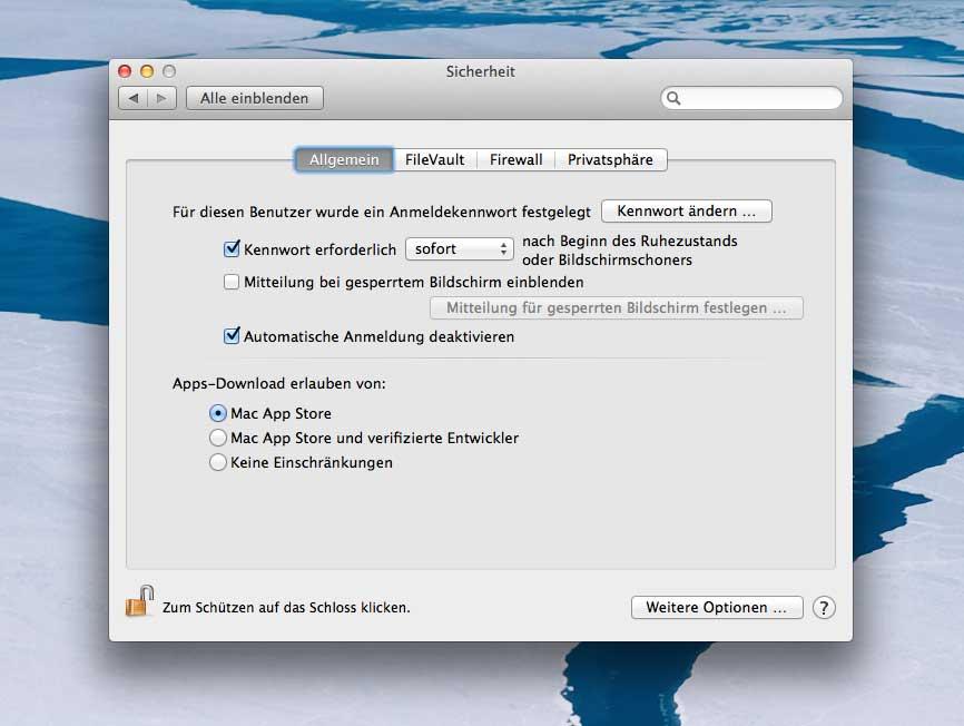 How-To: Den Mac sichern