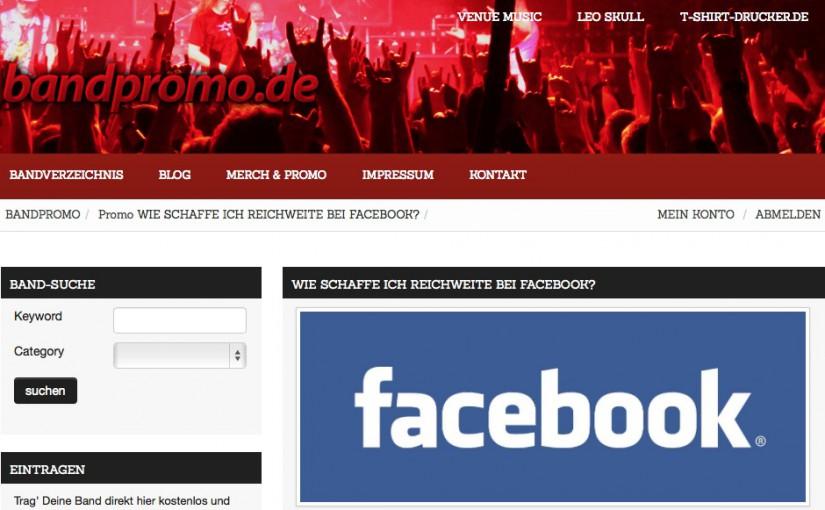 Nicht nur für Bands: Reichweite bei Facebook