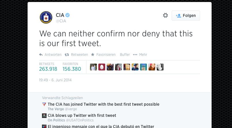 CIA bei Twitter