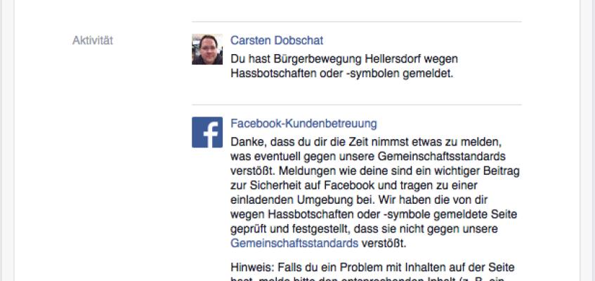 """Die """"Gemeinschaft"""" bei Facebook"""