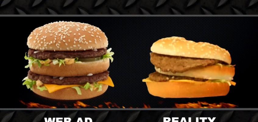 Ein Burger wie aus der Werbung