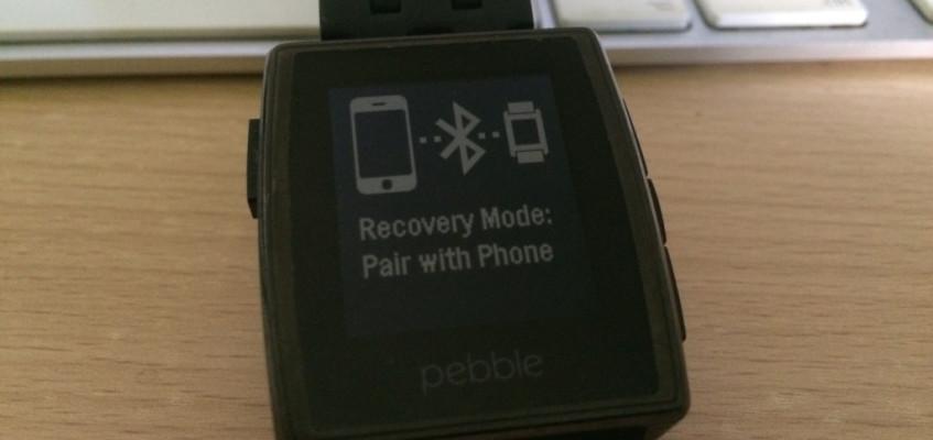 Pebble: Und täglich grüßt der Recovery Mode