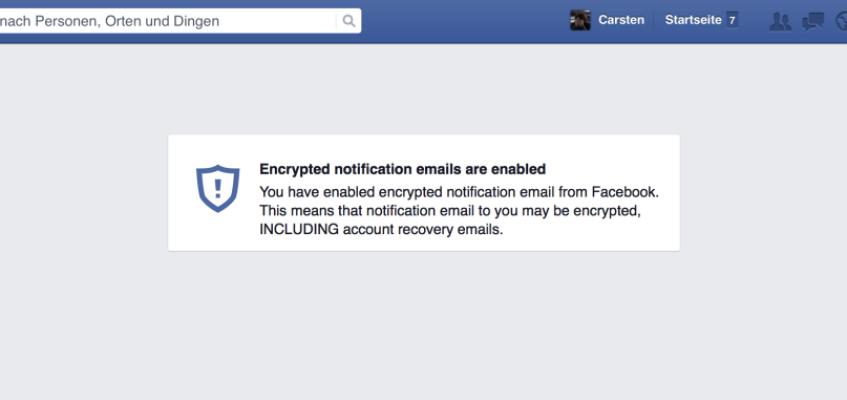 Facebook und OpenPGP