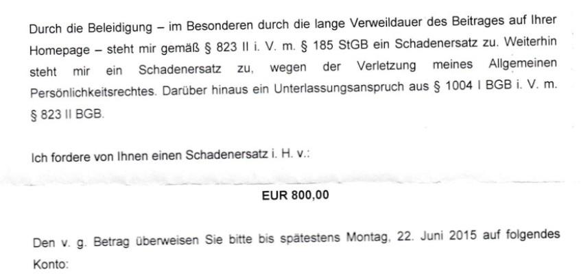 """Update zum Update zur """"Dobschat hat Arschloch gesagt""""-Klage"""