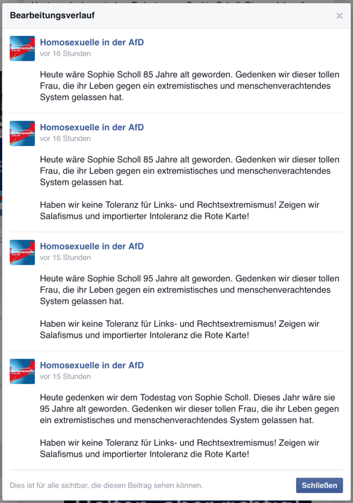 AfD-Homosexuelle-Bearbeitung-Sophie-Scholl