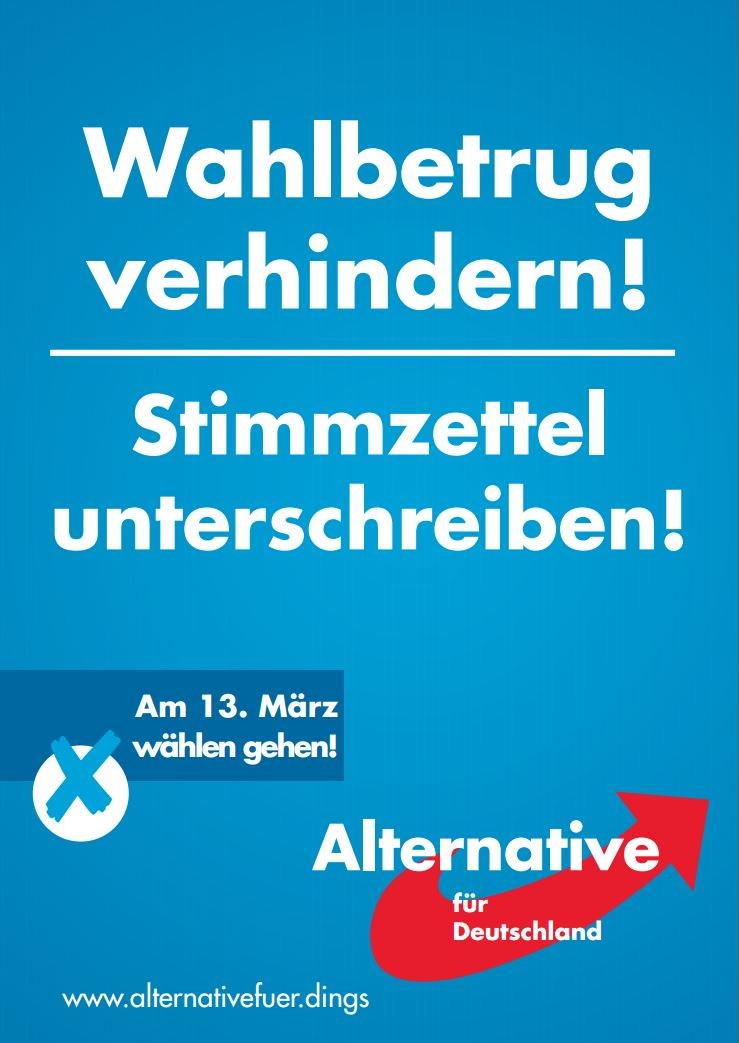 Gute Kampagne der AfD