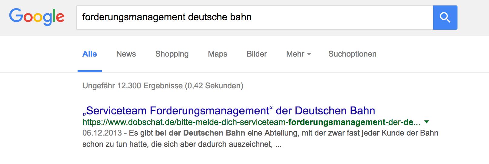 Ich bin nicht das Serviceteam Forderungsmanagement der Deutschen Bahn!