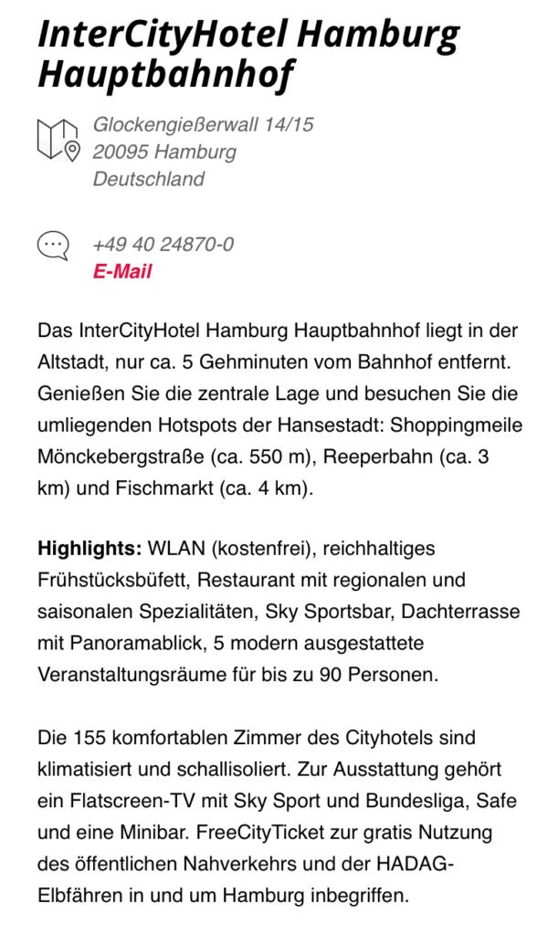 InterCity Hotel Hamburg WLAN 2
